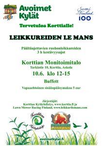 Ruohonleikkureiden kestävyysajot LeMans @ Korttian monitoimitalo | Suomi