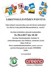 Liikennesääntöjen päivitys @ Korttian Monitoimitalo | Suomi