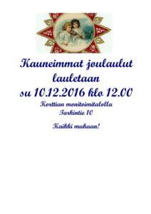 Kauneimmat Joululaulut @ Korttian Monitoimitalo | Suomi